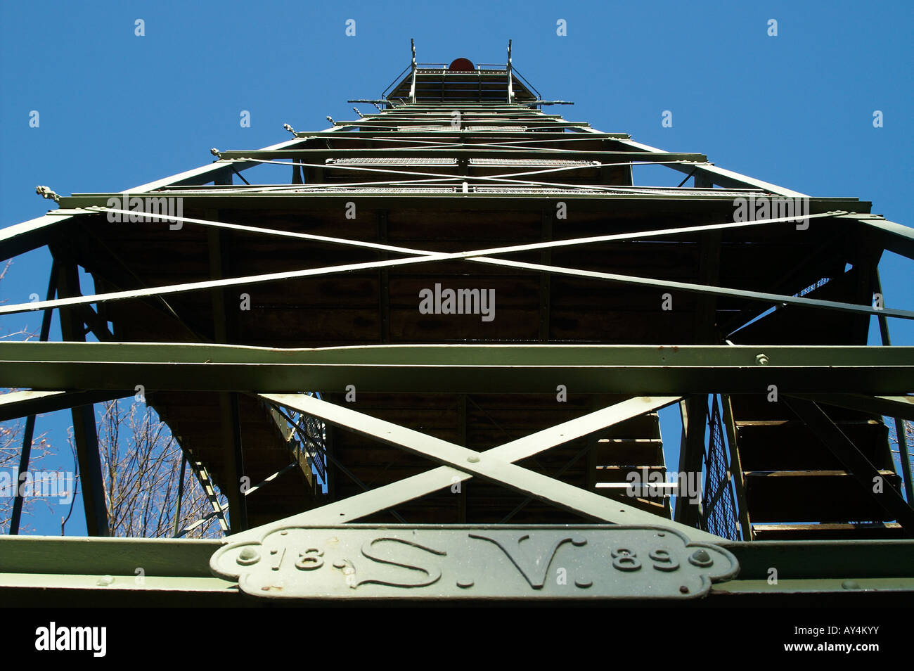 Observation tower on the Rosskopf Black Forest Stock Photo