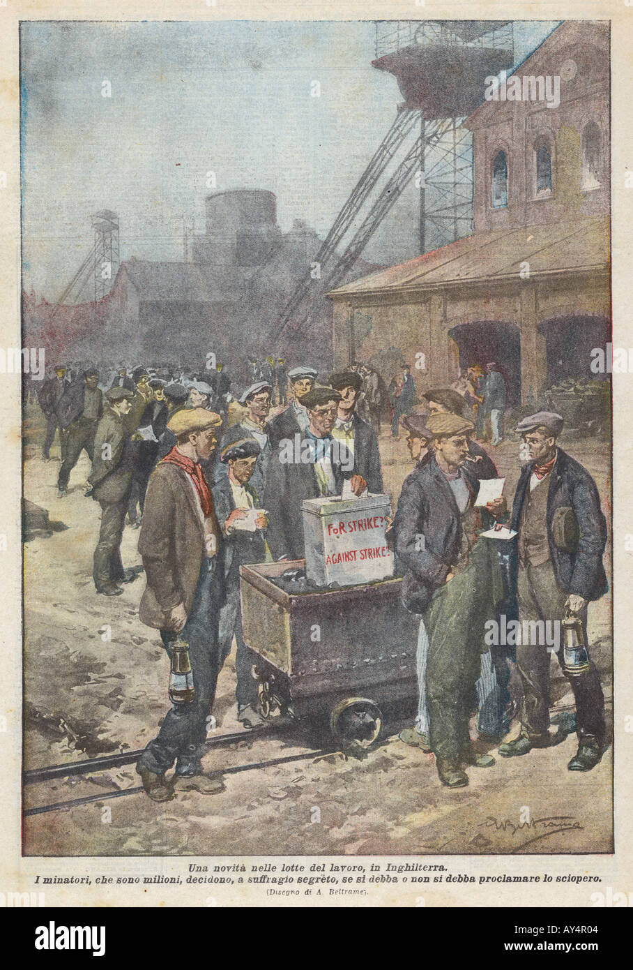 Miners Strike  1920 - Stock Image