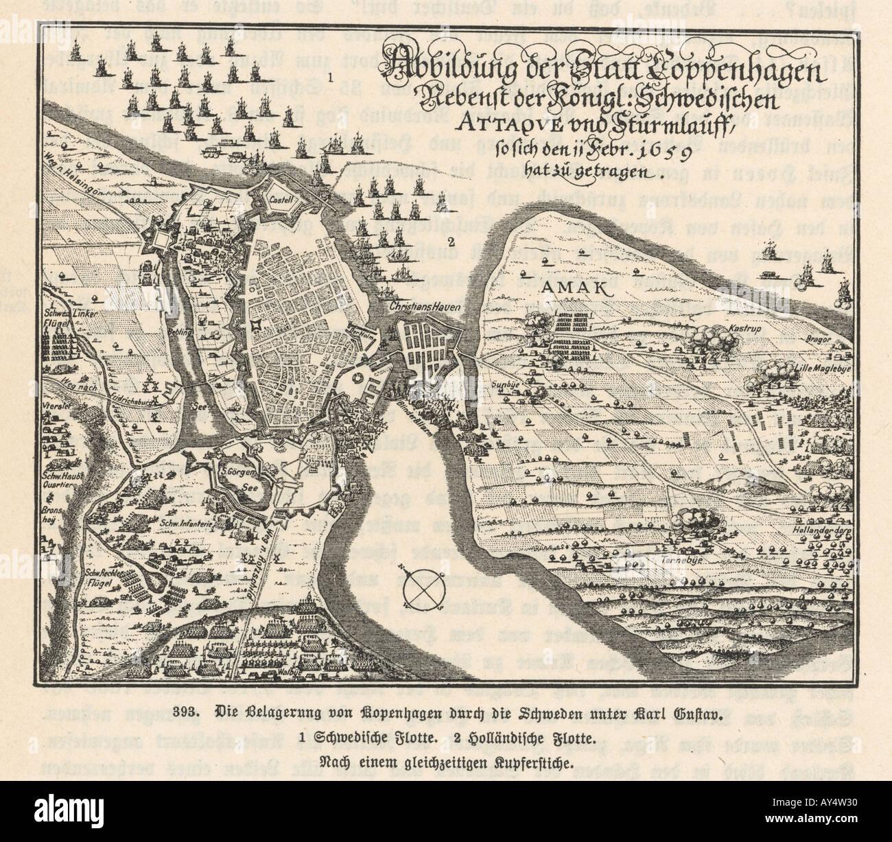 Siege Of Copenhagen 1659 - Stock Image