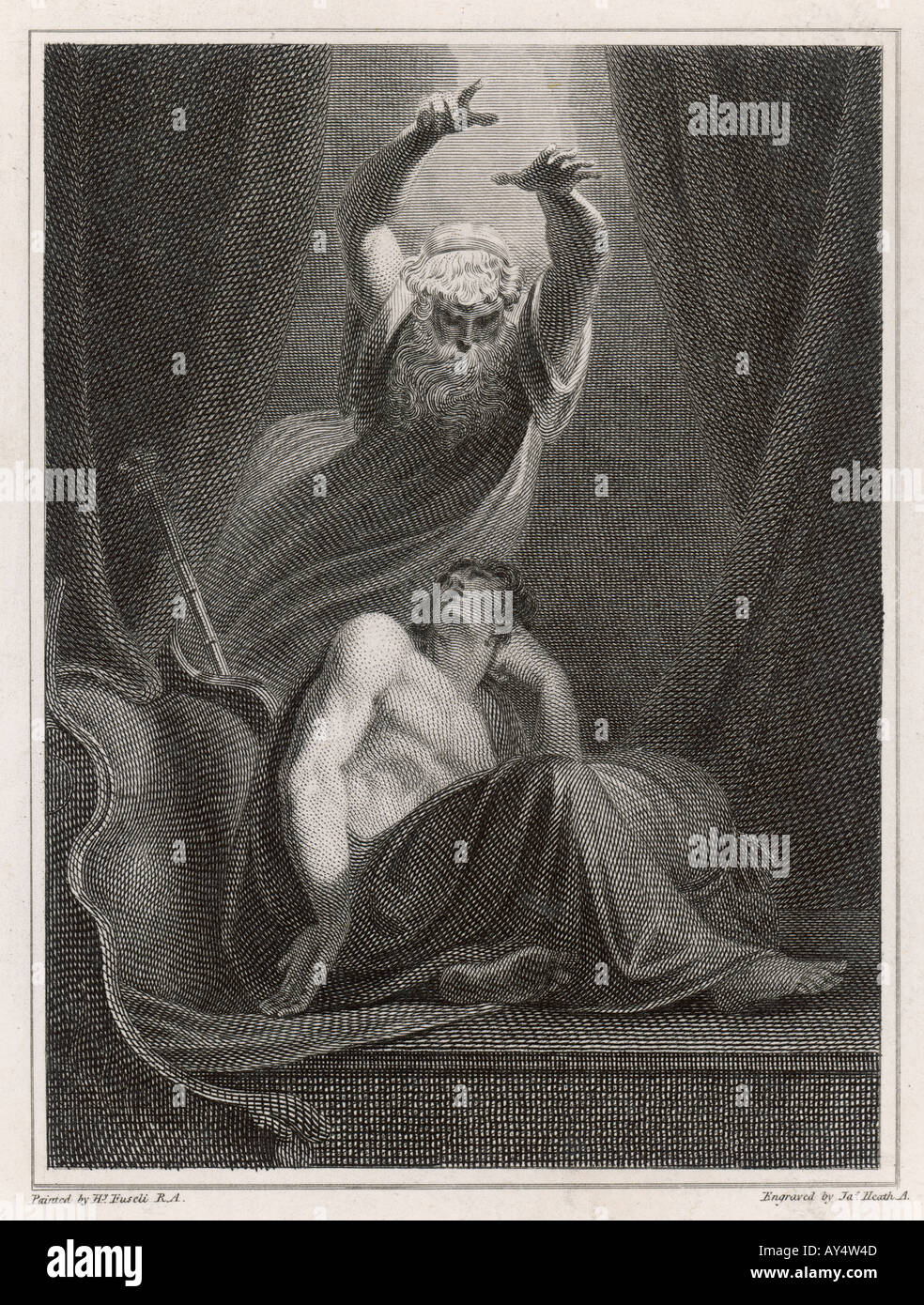 Myth Iliad Agamemnon - Stock Image
