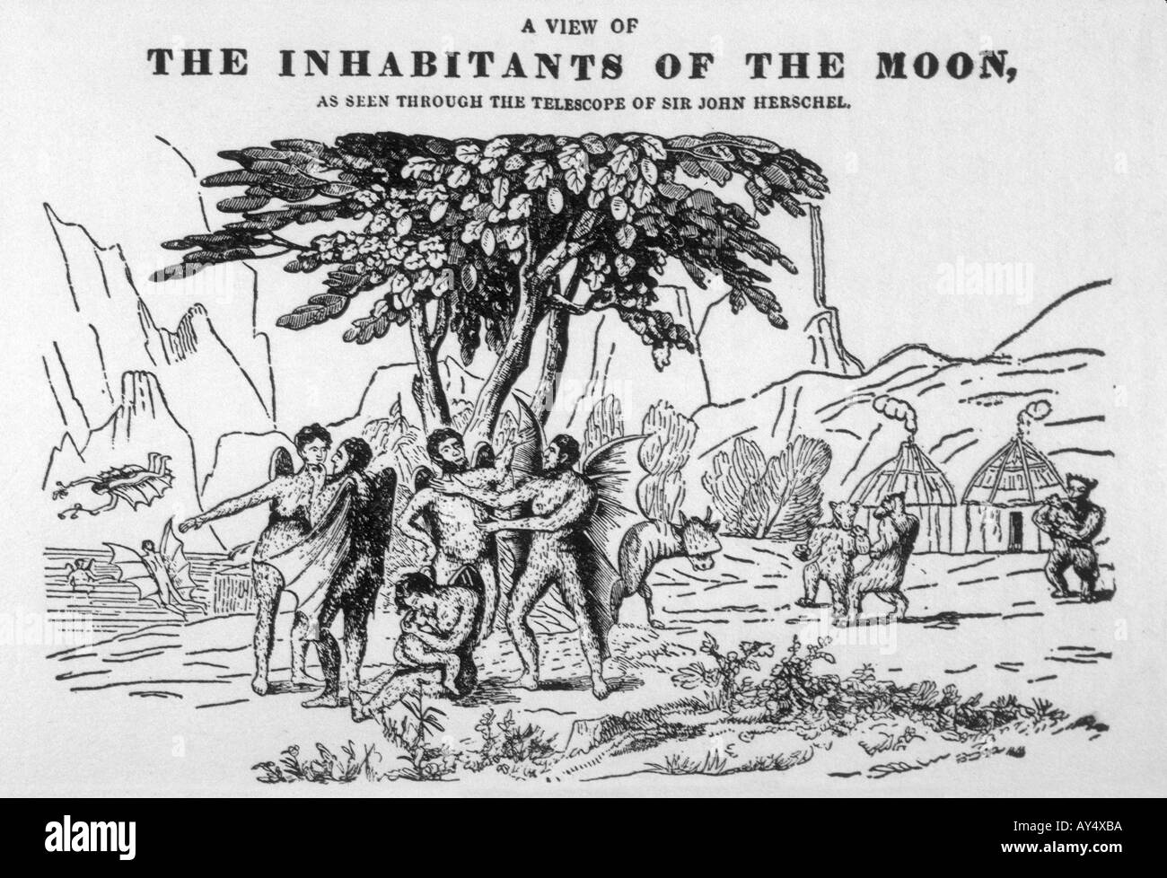 Great Moon Hoax - Stock Image