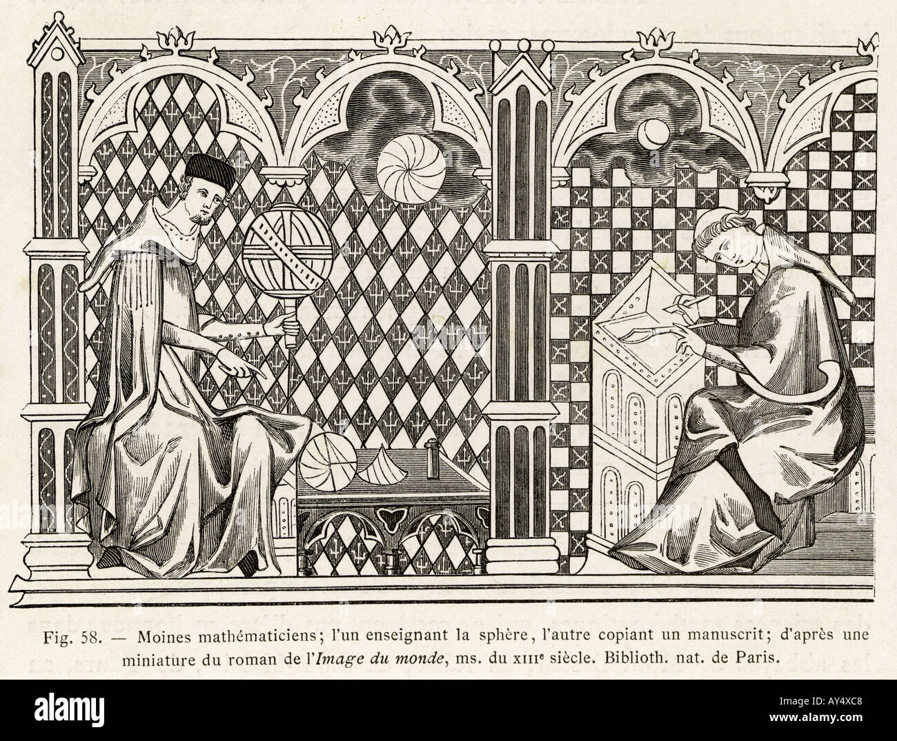 Monk Mathematicians - Stock Image