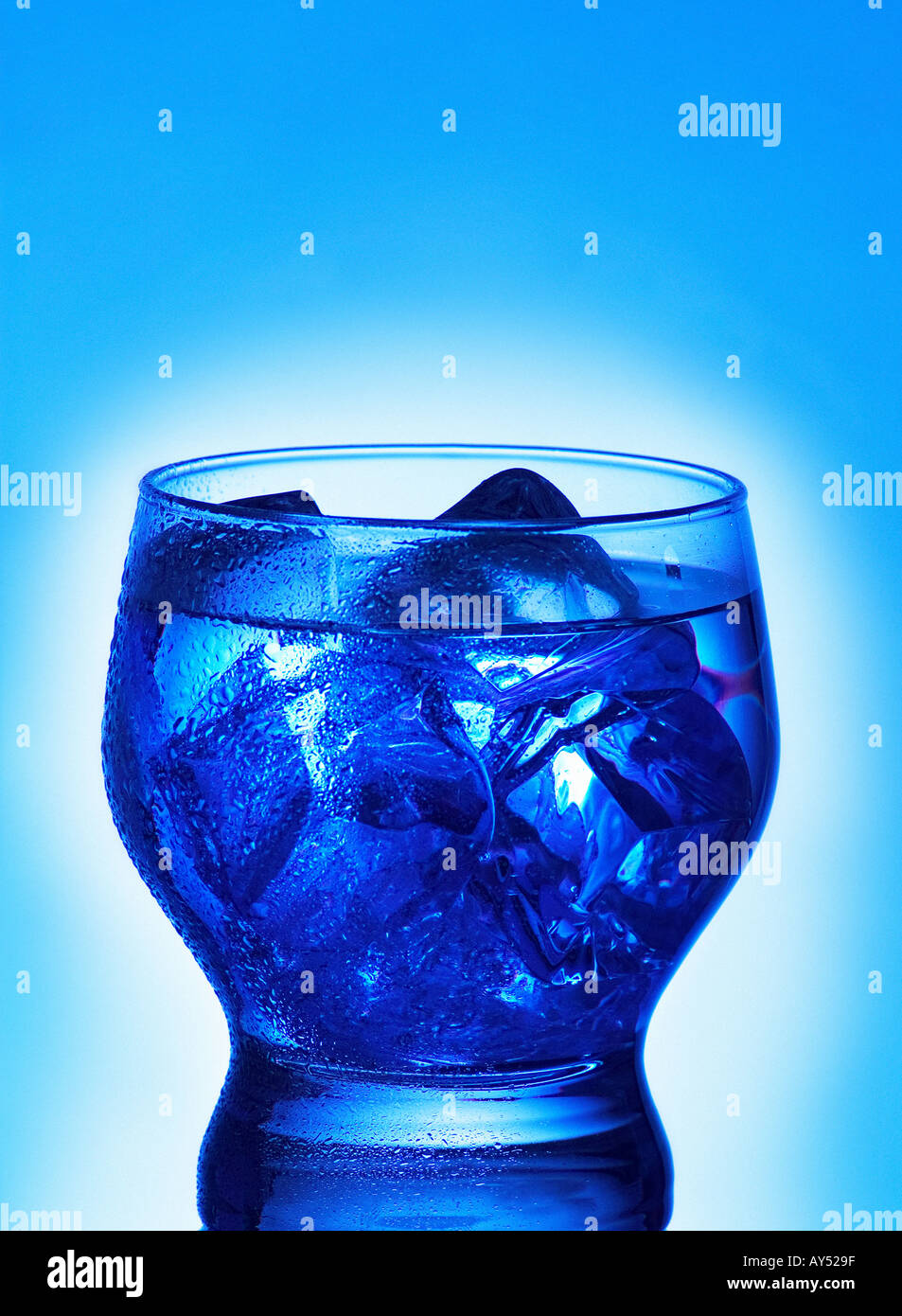 DRINK OF MINERAL WATER Stock Photo