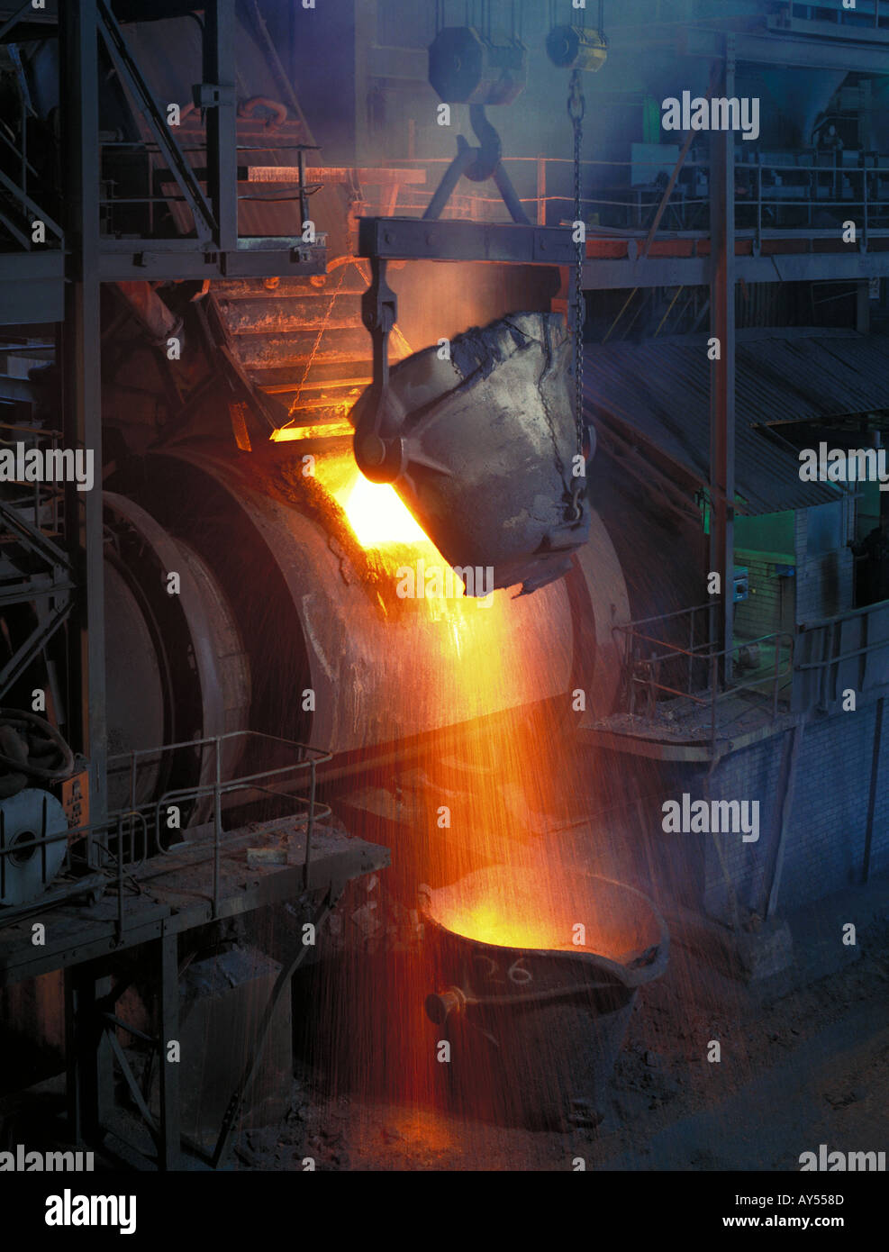 Platinum Group Metals smelter at Rustenburg South Africa - Stock Image