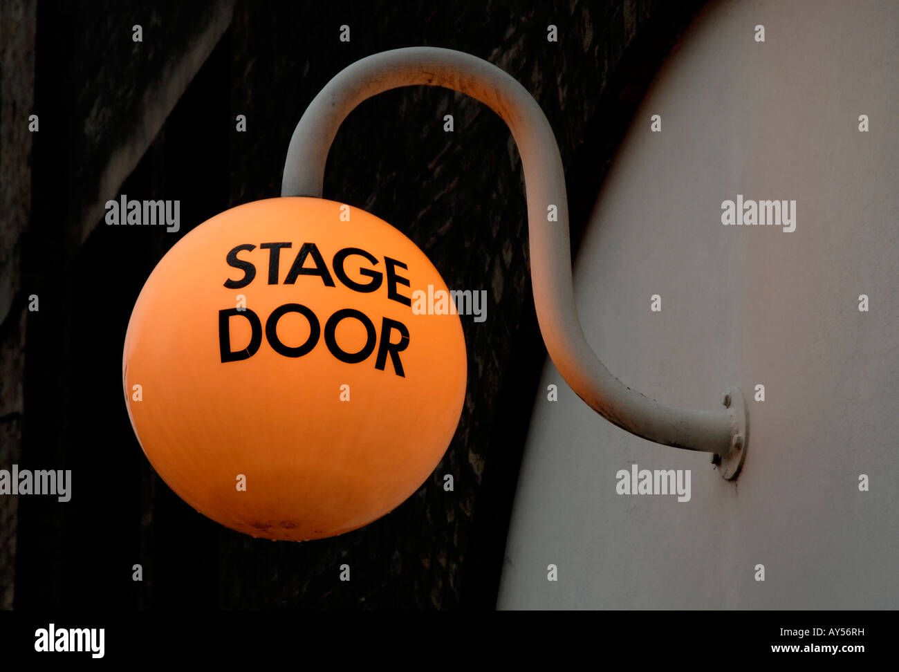 Stage Door illuminated sign, Old Vic Theatre, London, England, Great Britain, United Kingdom, Europe - Stock Image