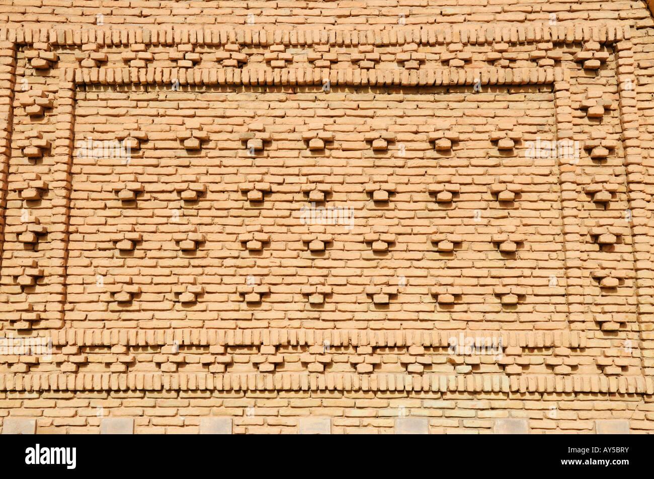Patterned Brickwork, Nefta, Tunisia - Stock Image