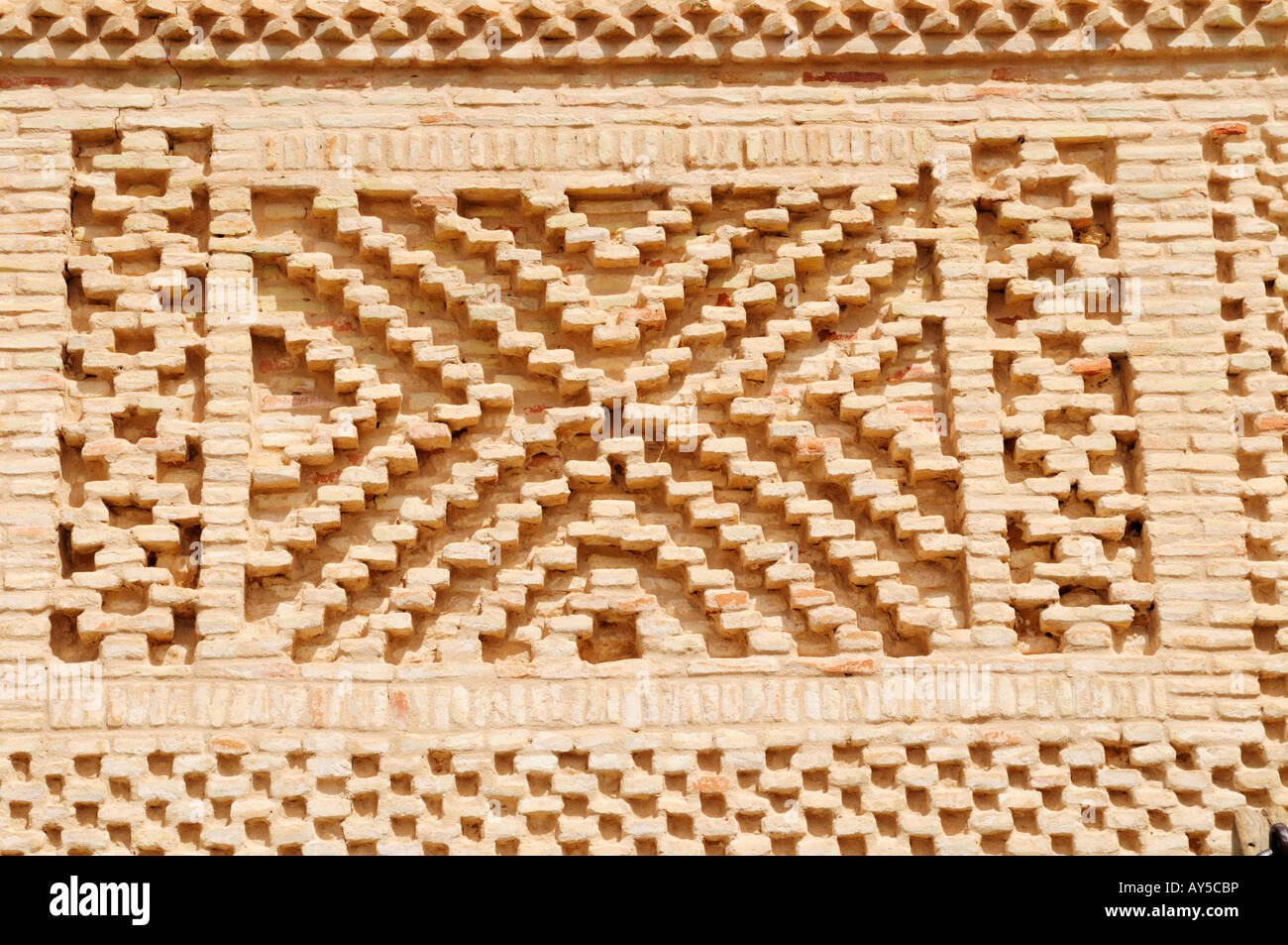Patterned Brickwork, Nefta Tunisia - Stock Image