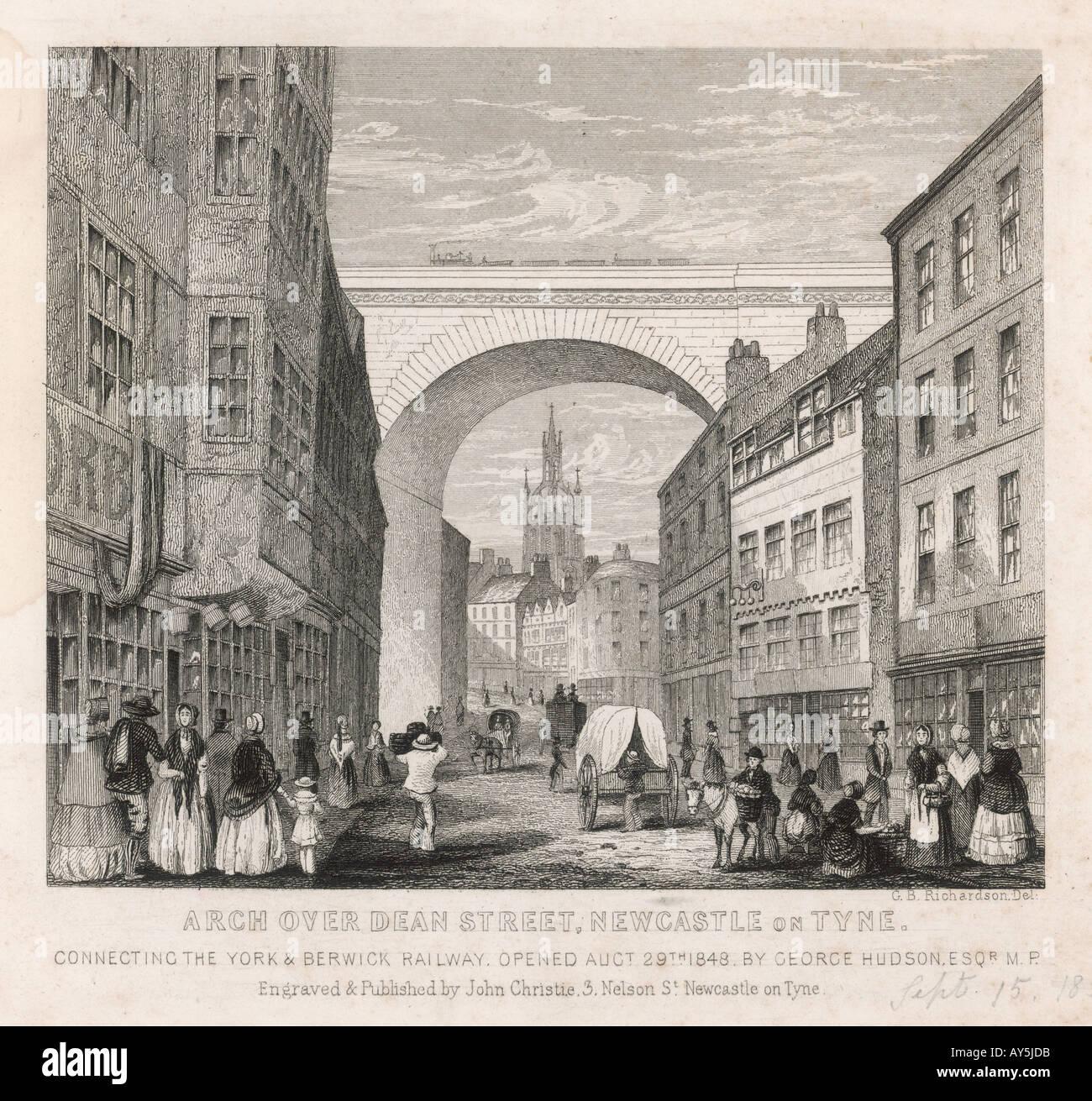 England Newcastle 1848 - Stock Image
