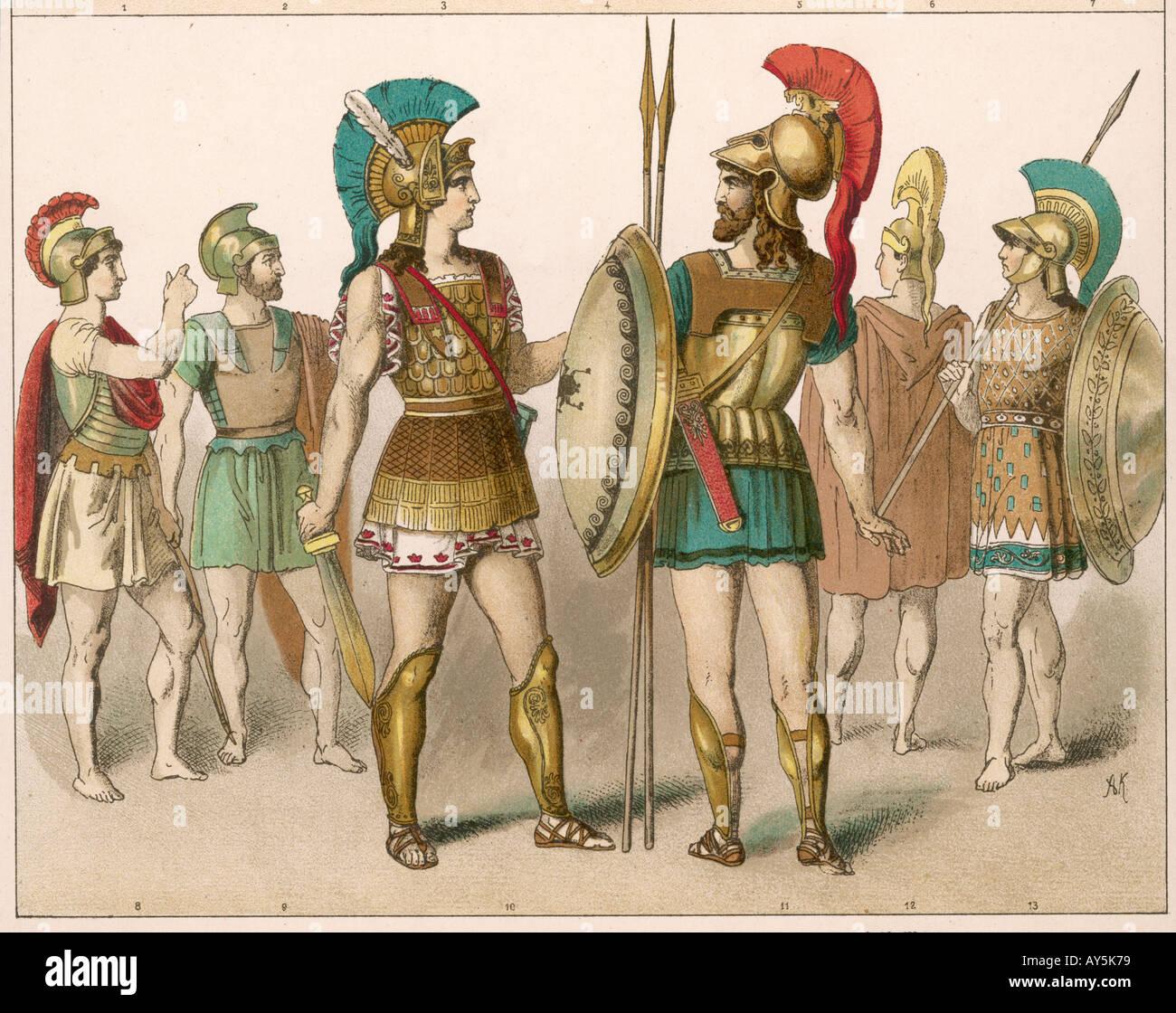 Ancient Greek Warriors - Stock Image