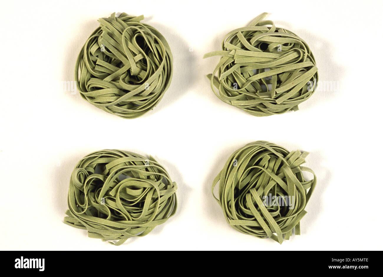 Pasta Spinach Pasta - Stock Image