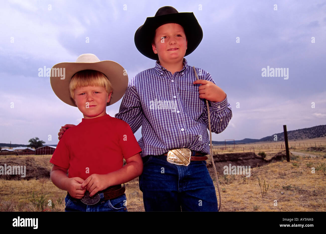 MR 607 608 Kody Gregory and Kullen Wooton are two young 4-H hombres in Capitan, New  Mexico. - Stock Image