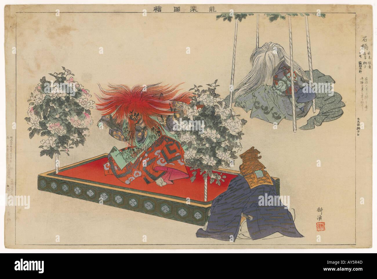A Kabuki Play Japan C19 - Stock Image