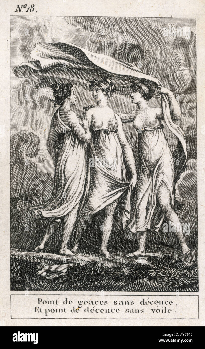 The Three Moral Graces - Stock Image