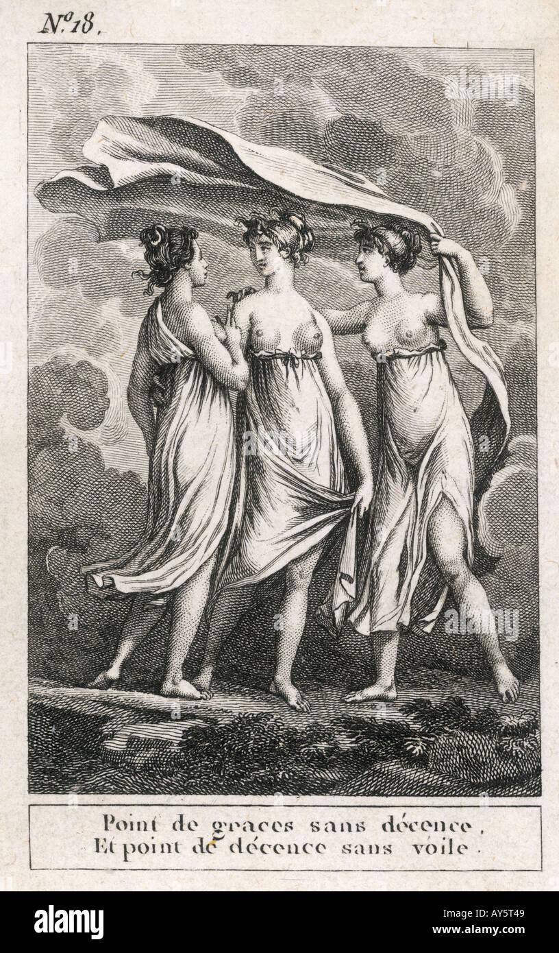 Myth The Three Graces - Stock Image