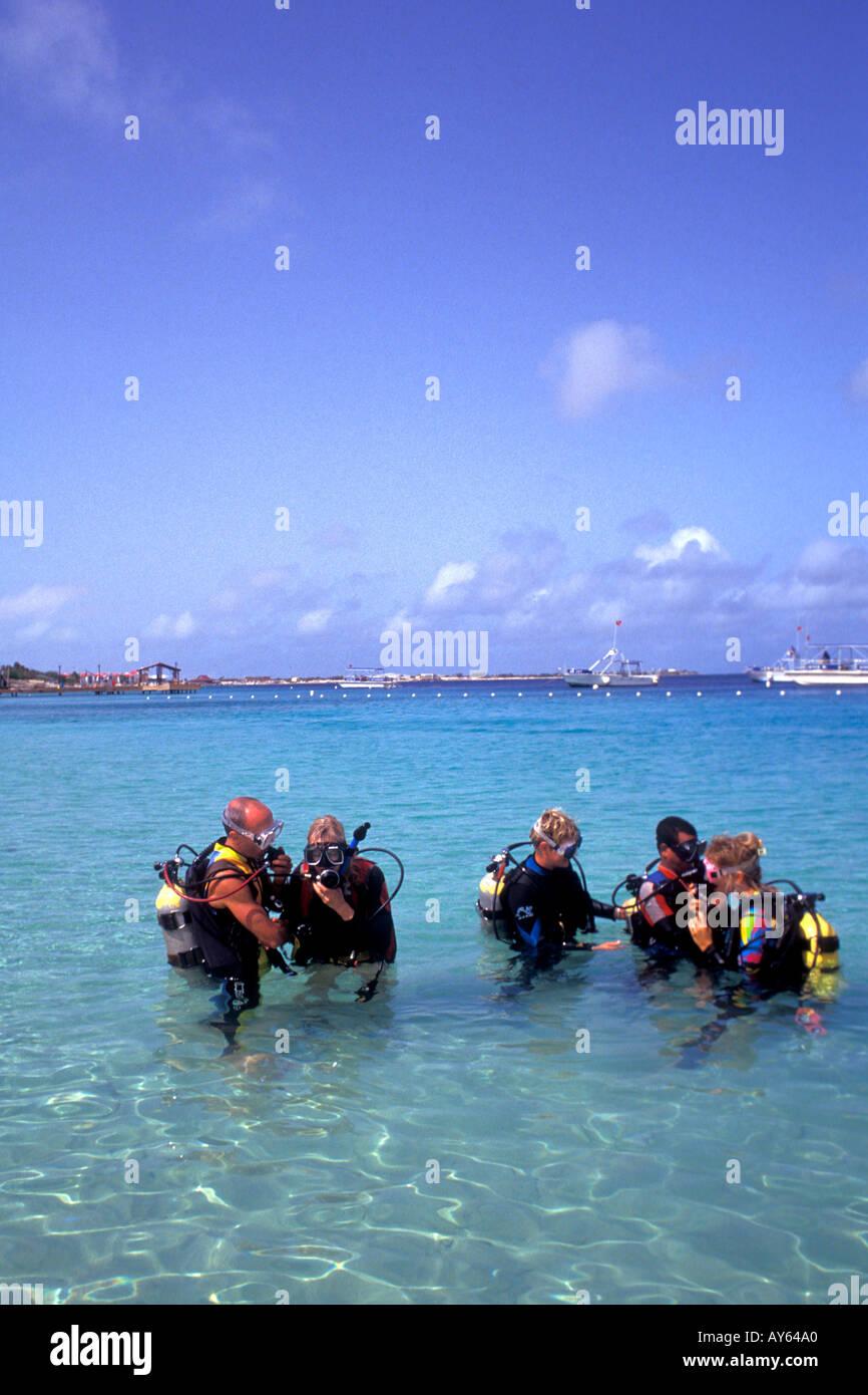 Caribbean Scuba Diving Lessons - Stock Image