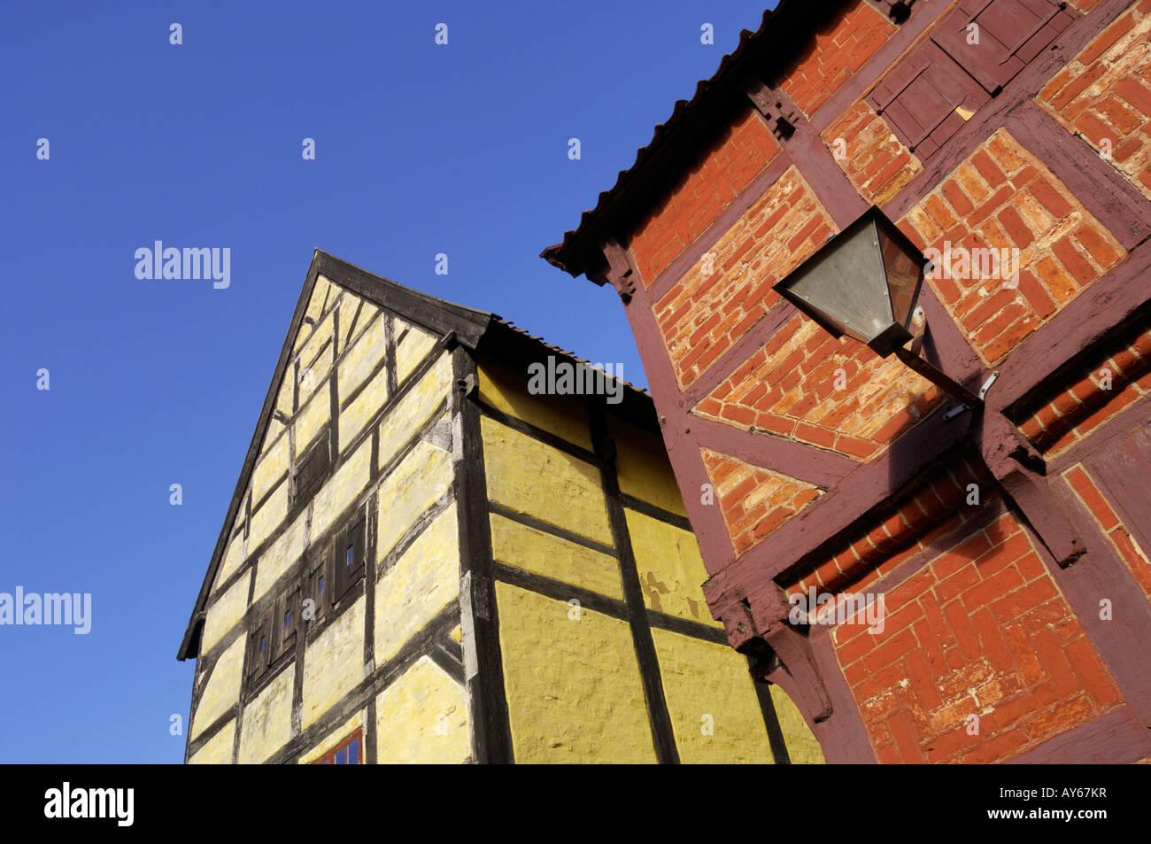 Aalborg Warehouse 1550 1570 Den Gamle By Aarhus Denmark - Stock Image