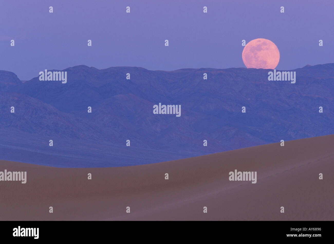 Moonrise at Death Valley - Stock Image