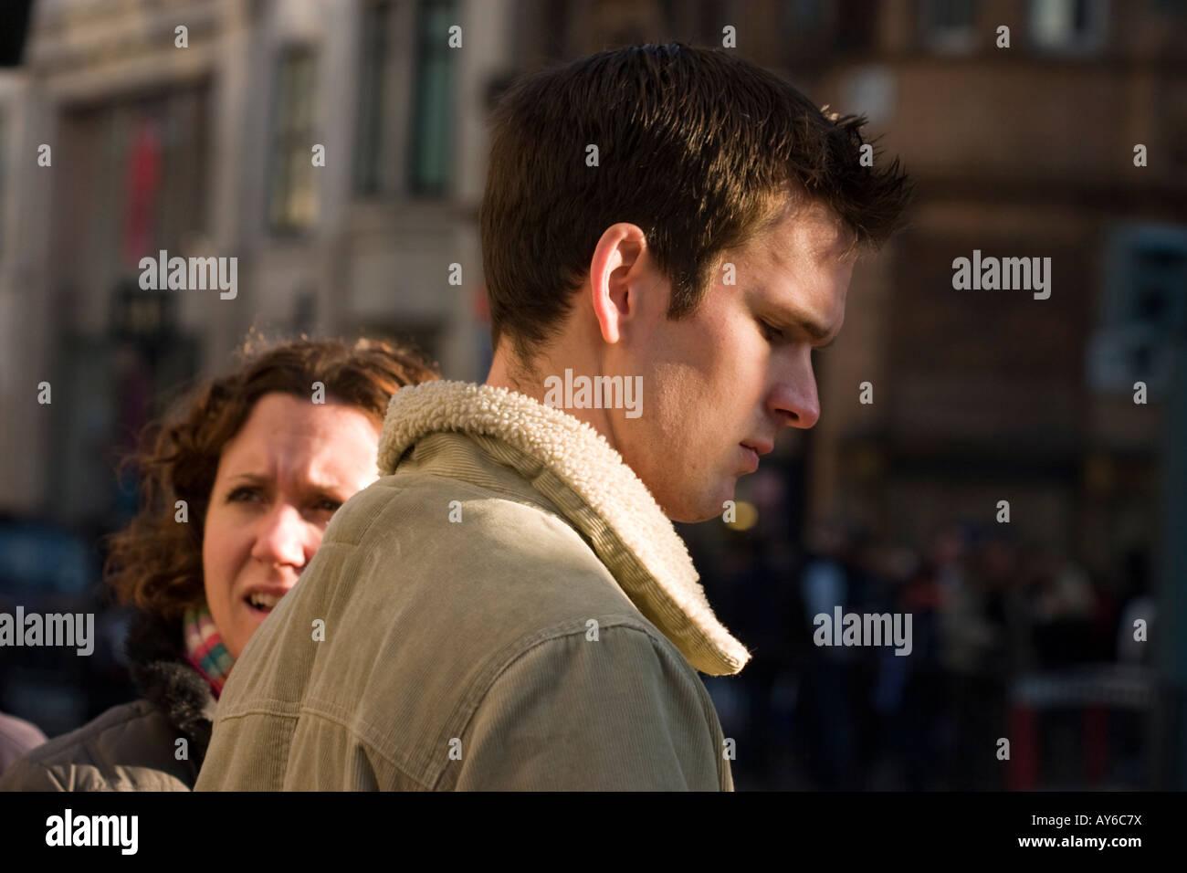 People on street, London - Stock Image