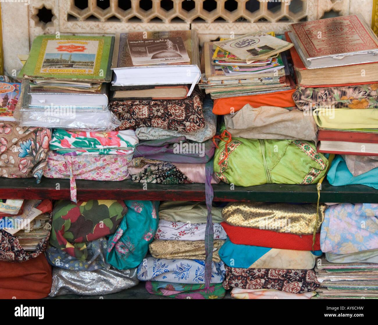 Copies of the Koran at a mosque - Stock Image