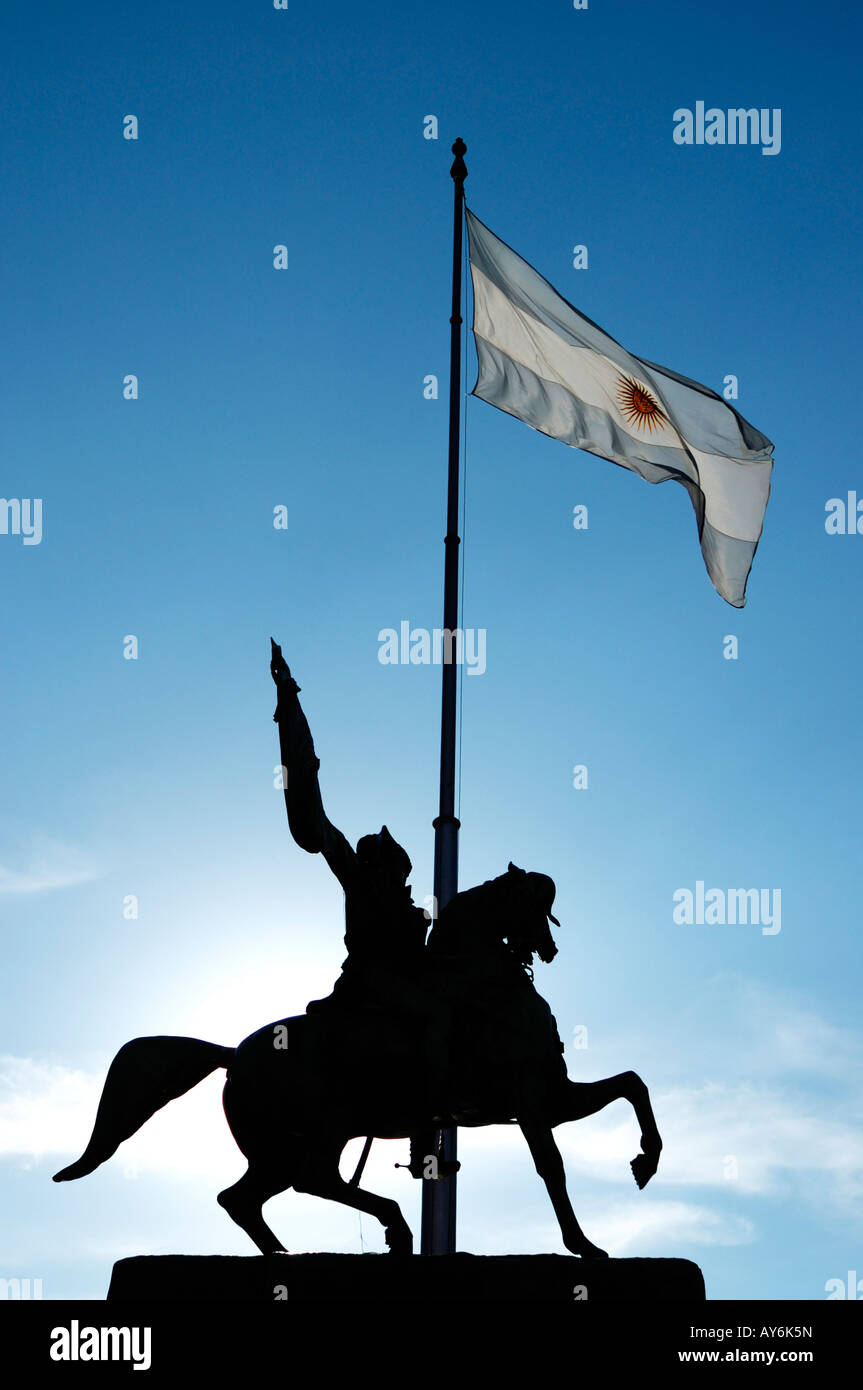Belgrano Monument in Plaza de Mayo in downtown Buenos Aires, City of Buenos Aires, Capital of Argentina, South America - Stock Image