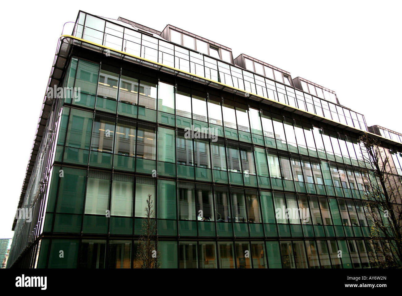 One of the buildings housing the Competition Commission of the EC in Brussels - Stock Image