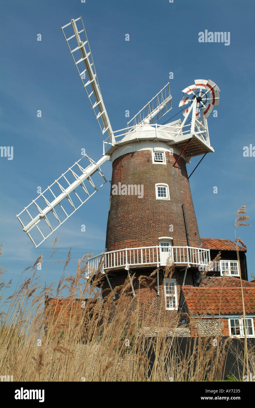 Cley Windmill at Cley next the Sea, Norfolk, England, UK. - Stock Image