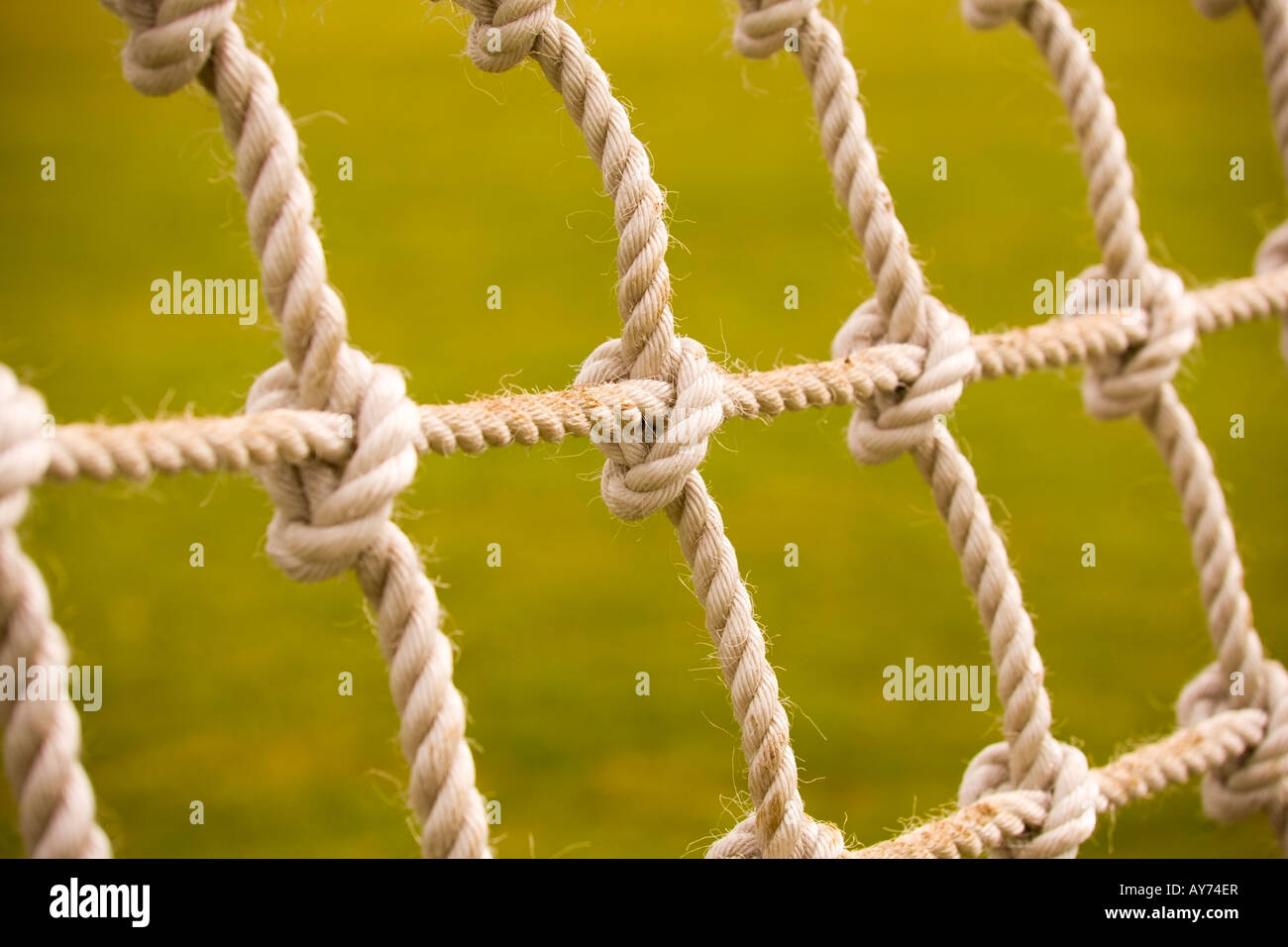 A knotted rope net - Stock Image