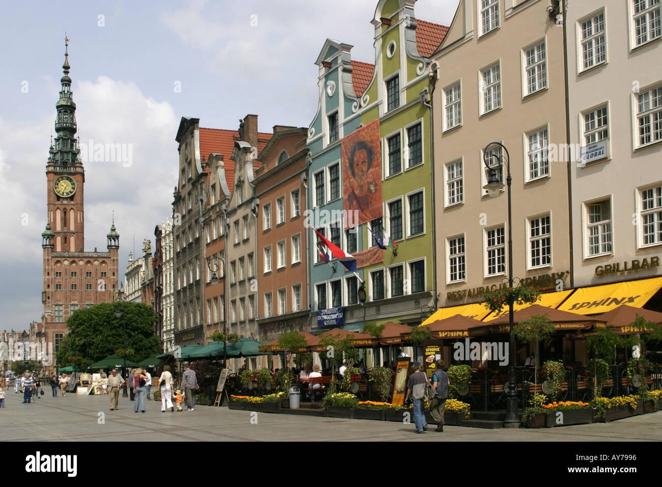 Poland Gdansk Town hall Dlugi Targ - Stock Image