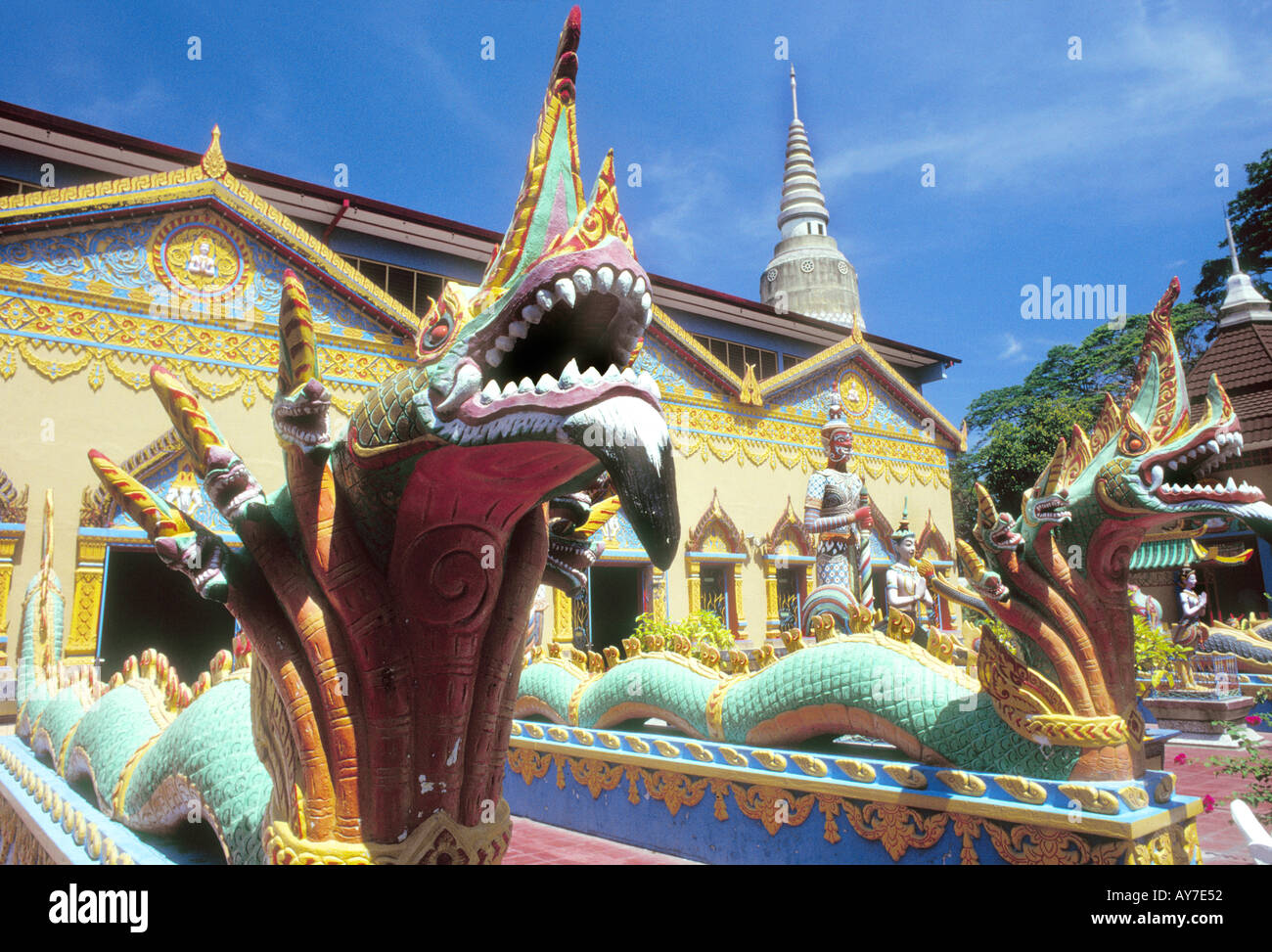 Chayamangkalaram wat  , Wat Buppharam in Penang Georgetown Malaysia Stock Photo