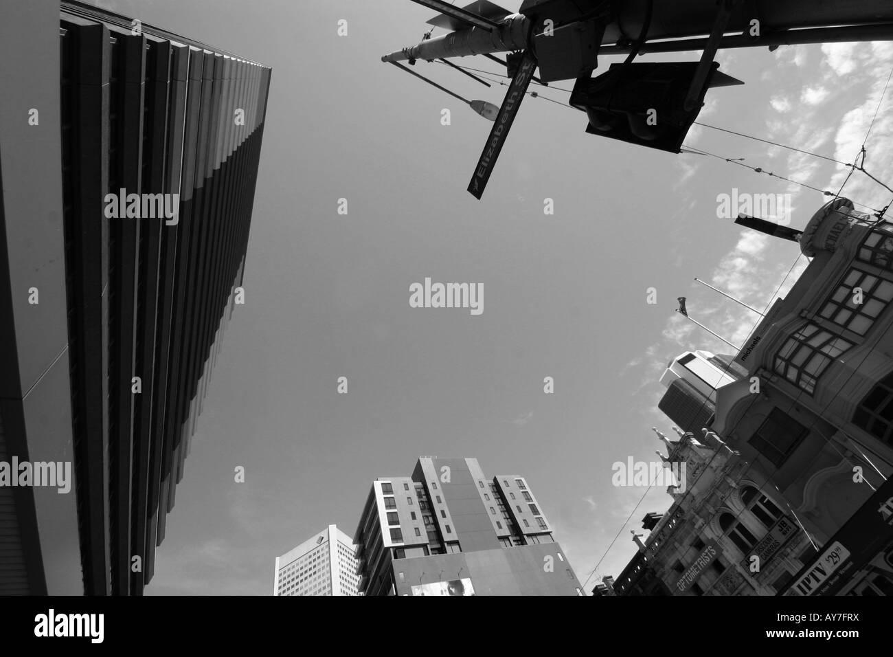 Melbourne city - Stock Image