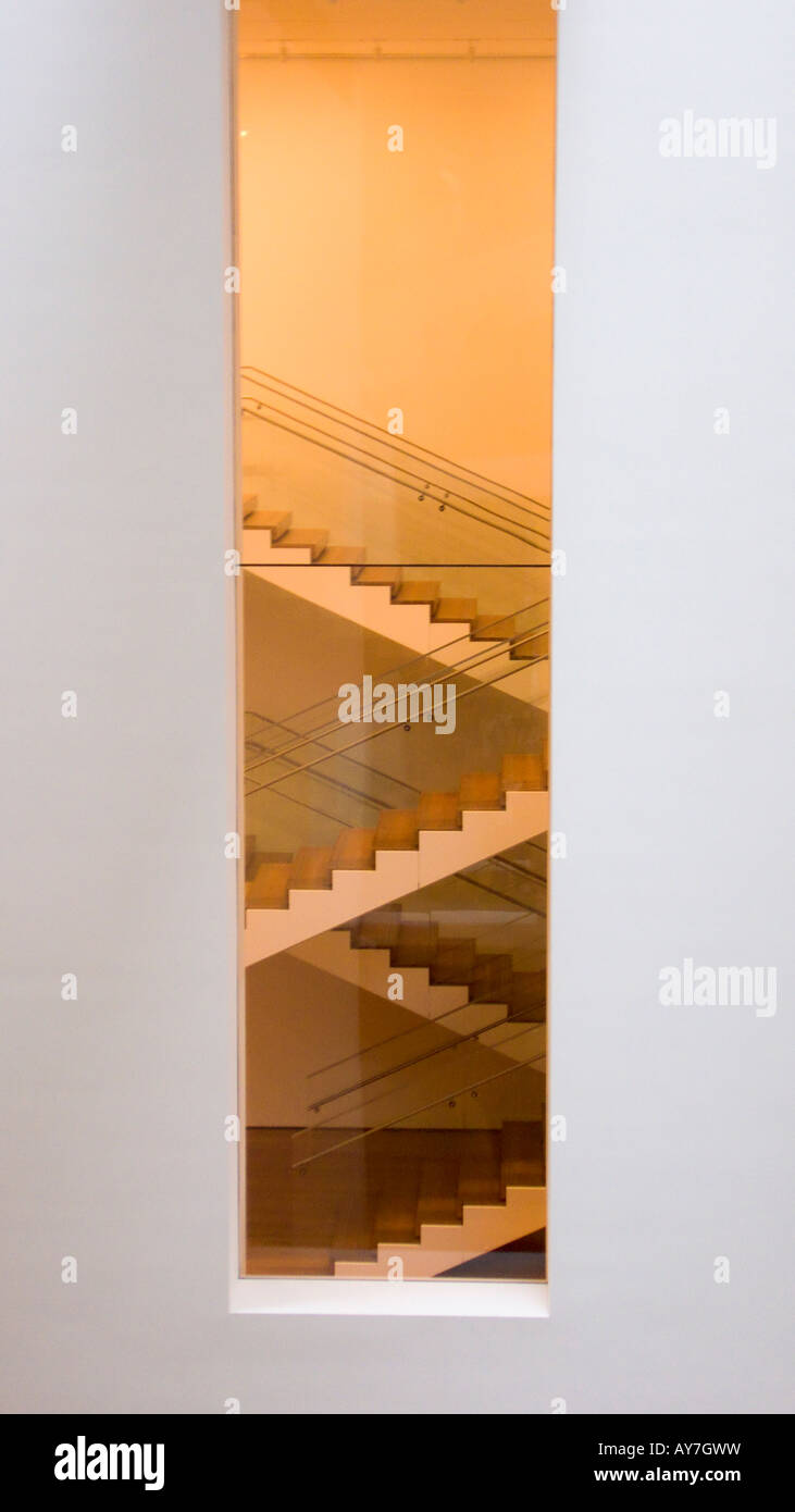 Stairs in The Museum of Modern Art MoMA New York NY USA Stock Photo