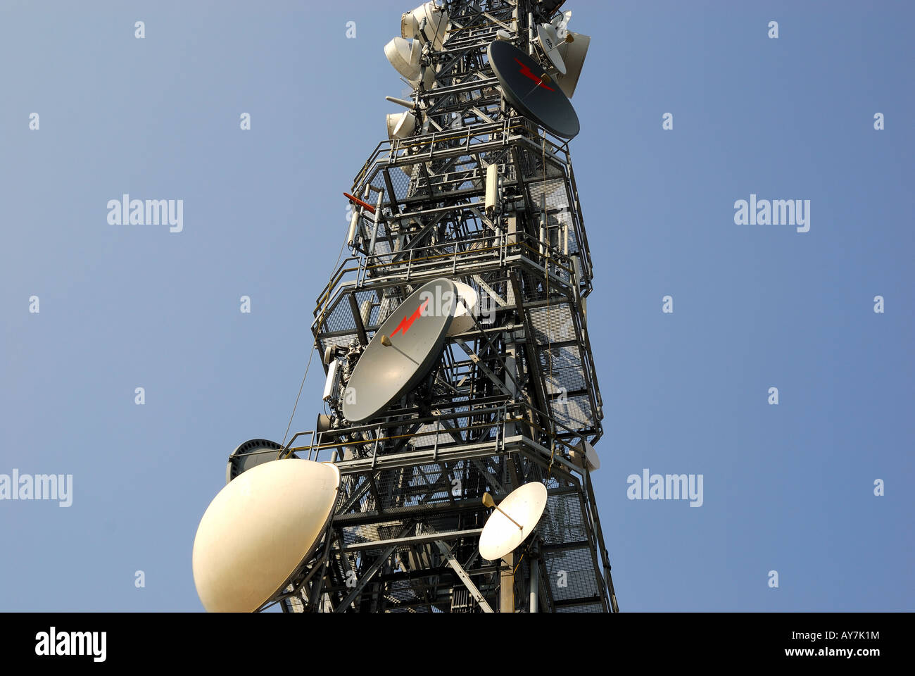 Signal repeater - Stock Image