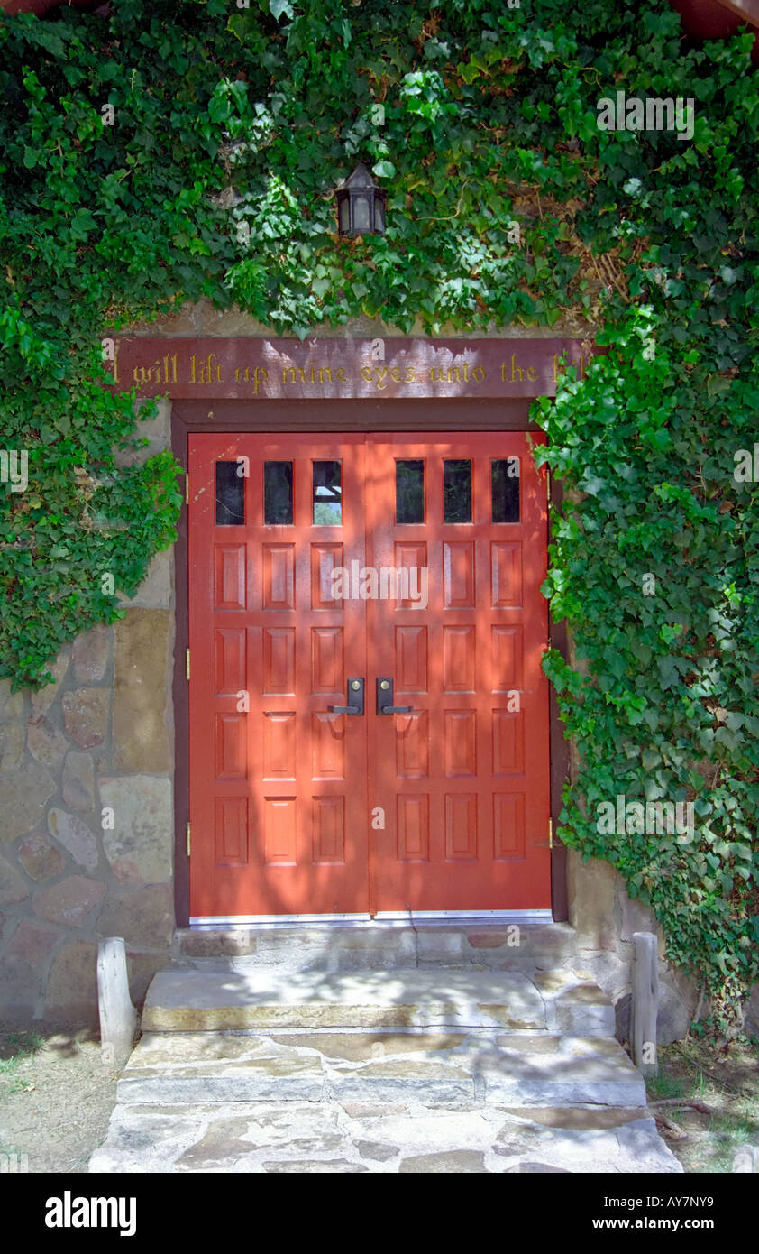 Two Trees And A Red Door Mark The Ivy Shrouded Entryway To The Stock