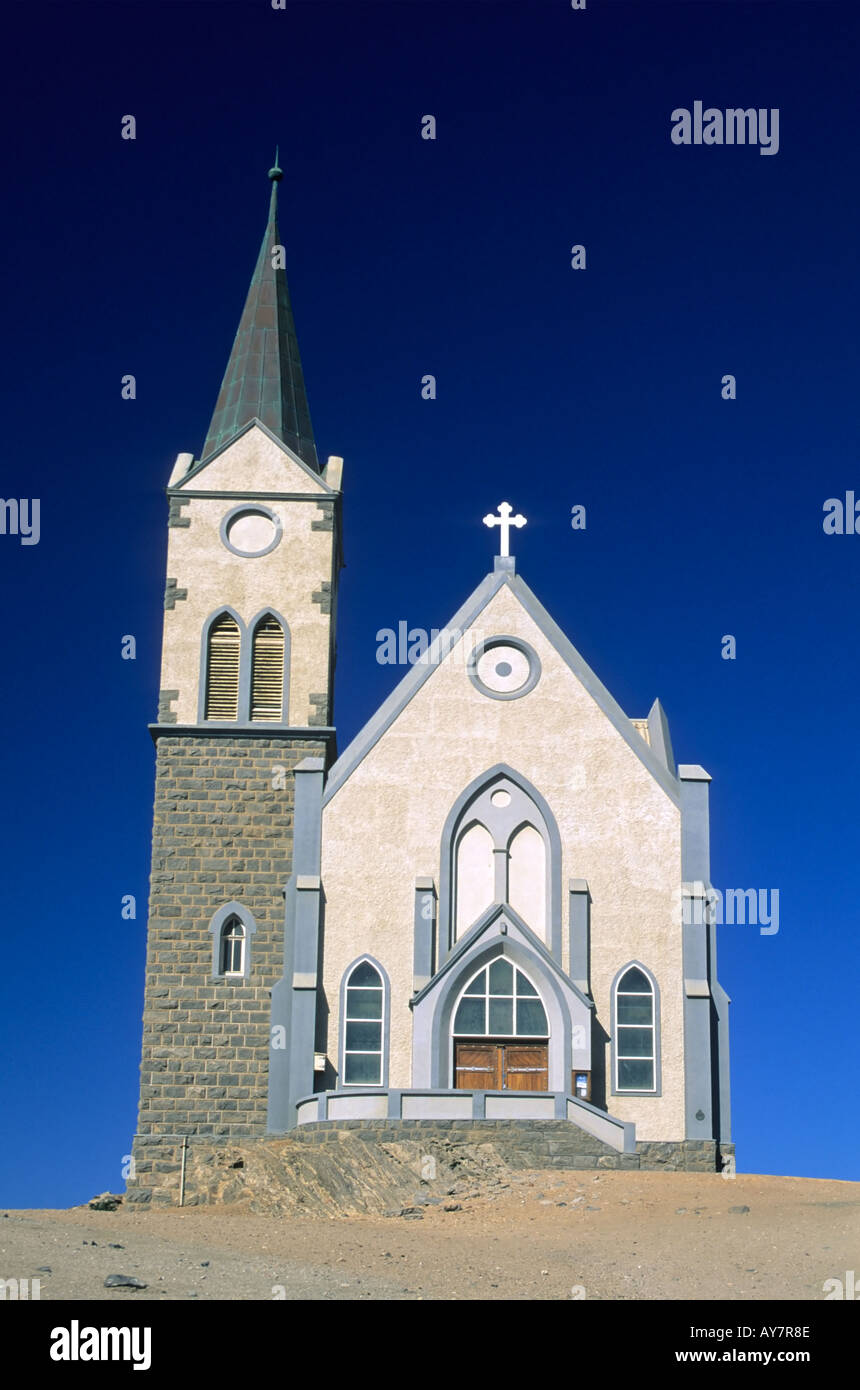 Felsenkirche, German Lutheran Church, Luderitz, Namibia - Stock Image