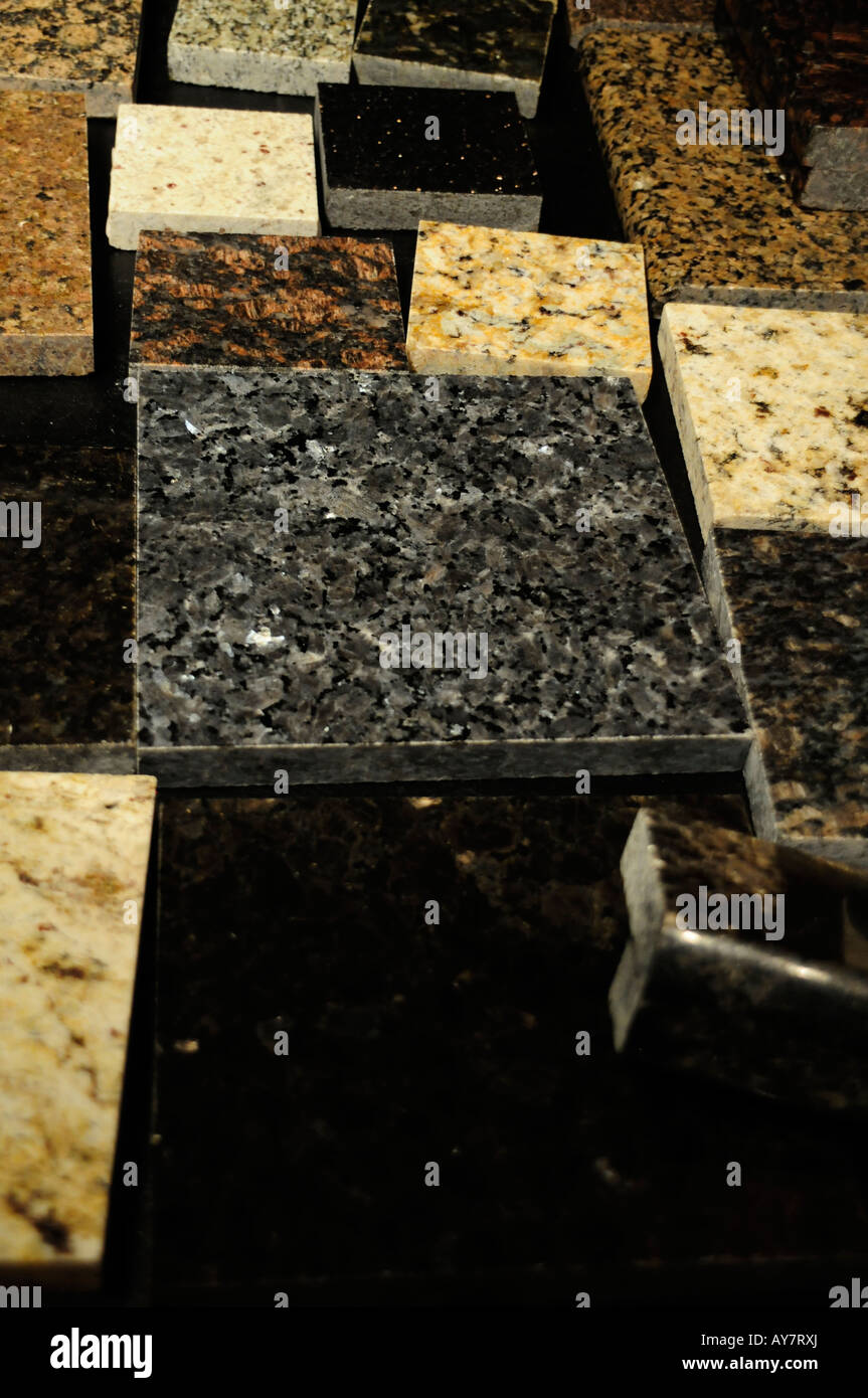 A variety of floor tiles. Stone, tiles, rock, marble, granite Stock ...