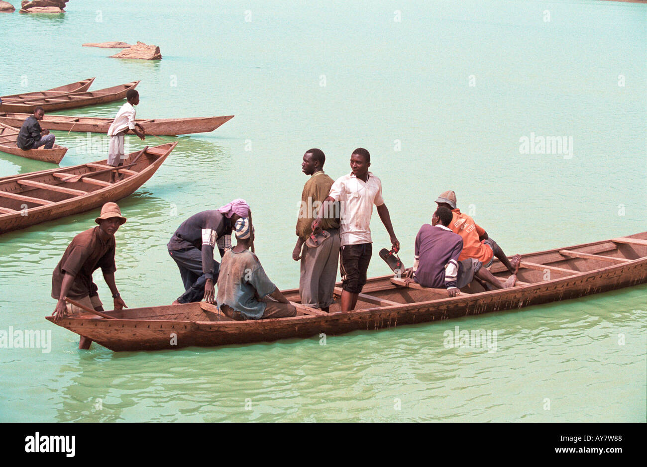 The river crossing - Stock Image