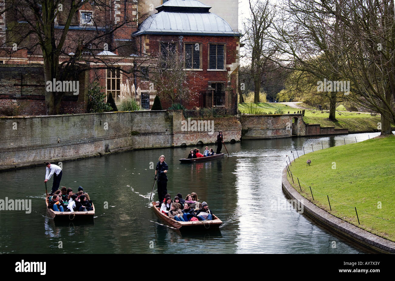 punts on the river Cam - Stock Image