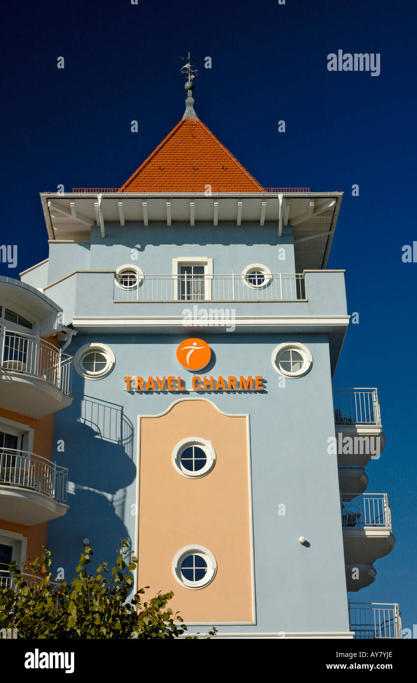 Kurhaus Hotel, Sellin, Isle of Ruegen, Germany. - Stock Image