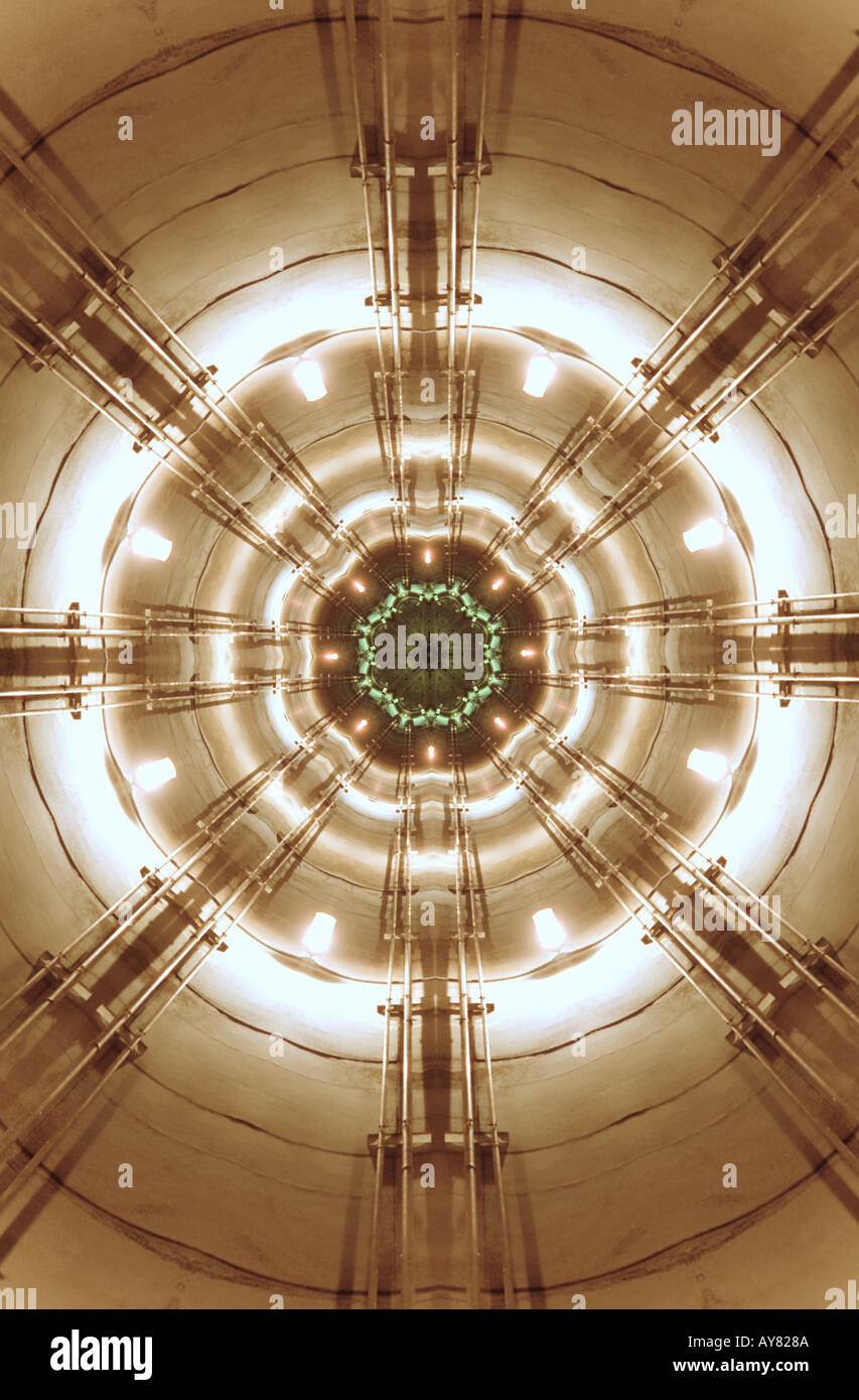 The Silo digitally manipulated science fiction image - Stock Image
