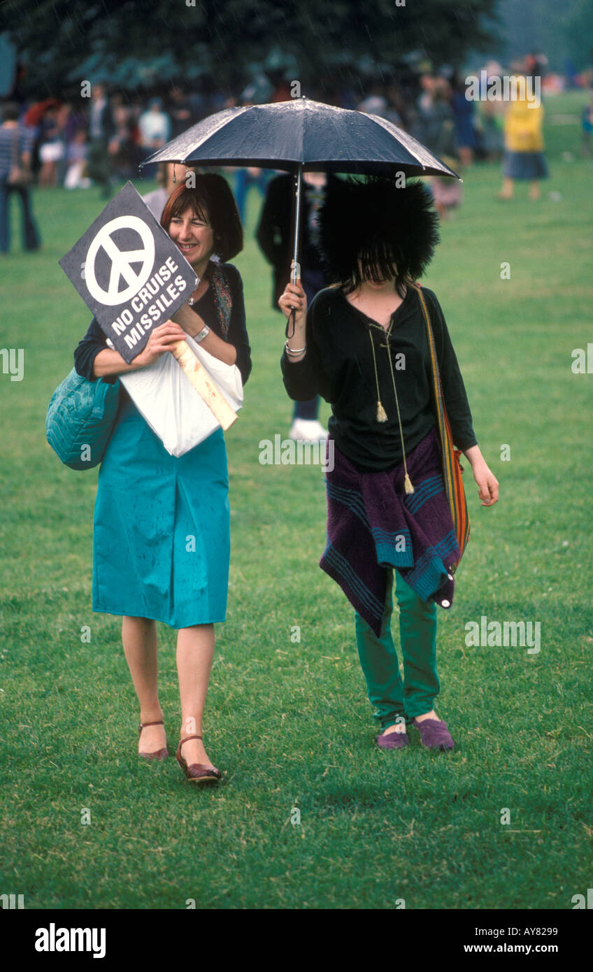 Campaign for Nuclear Disarmament rally through London to Hyde Park 1982 England. Stop the Falklands war HOMER SYKES - Stock Image