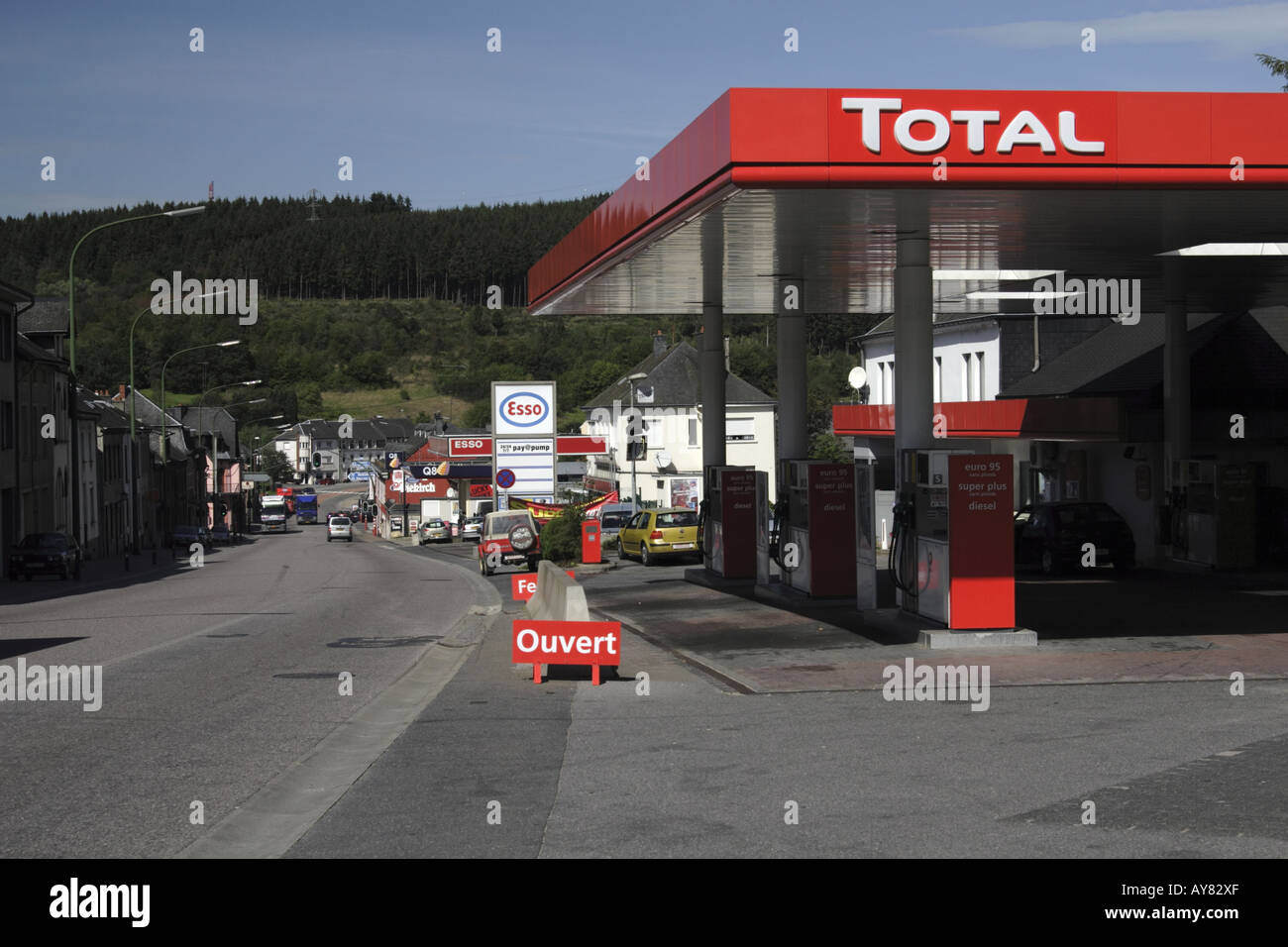 bfbdd9797cf1 Total filling station in the village of Martelange Belgium on the border  with the Grand Duchy
