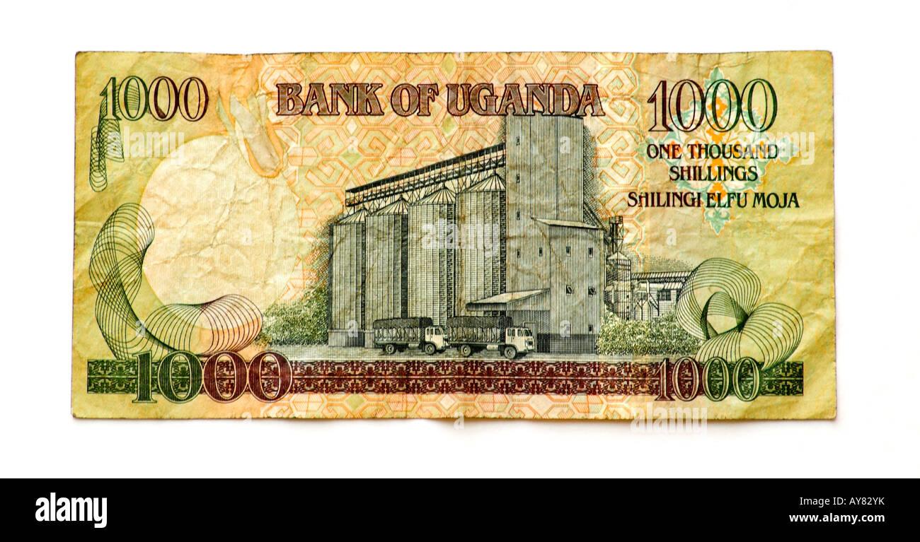 Uganda 1000 Shilling bank note - Stock Image