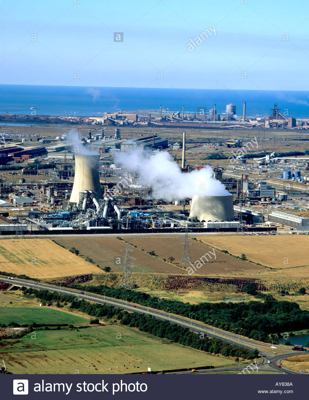Chemical plant Teeside ICI s Wilton works - Stock Image