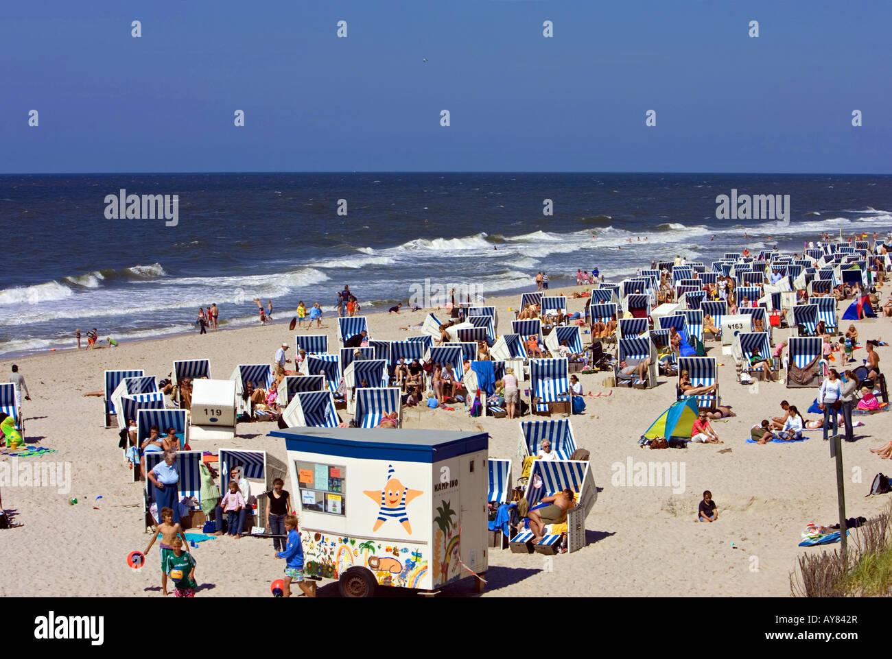 beach baskets - Stock Image