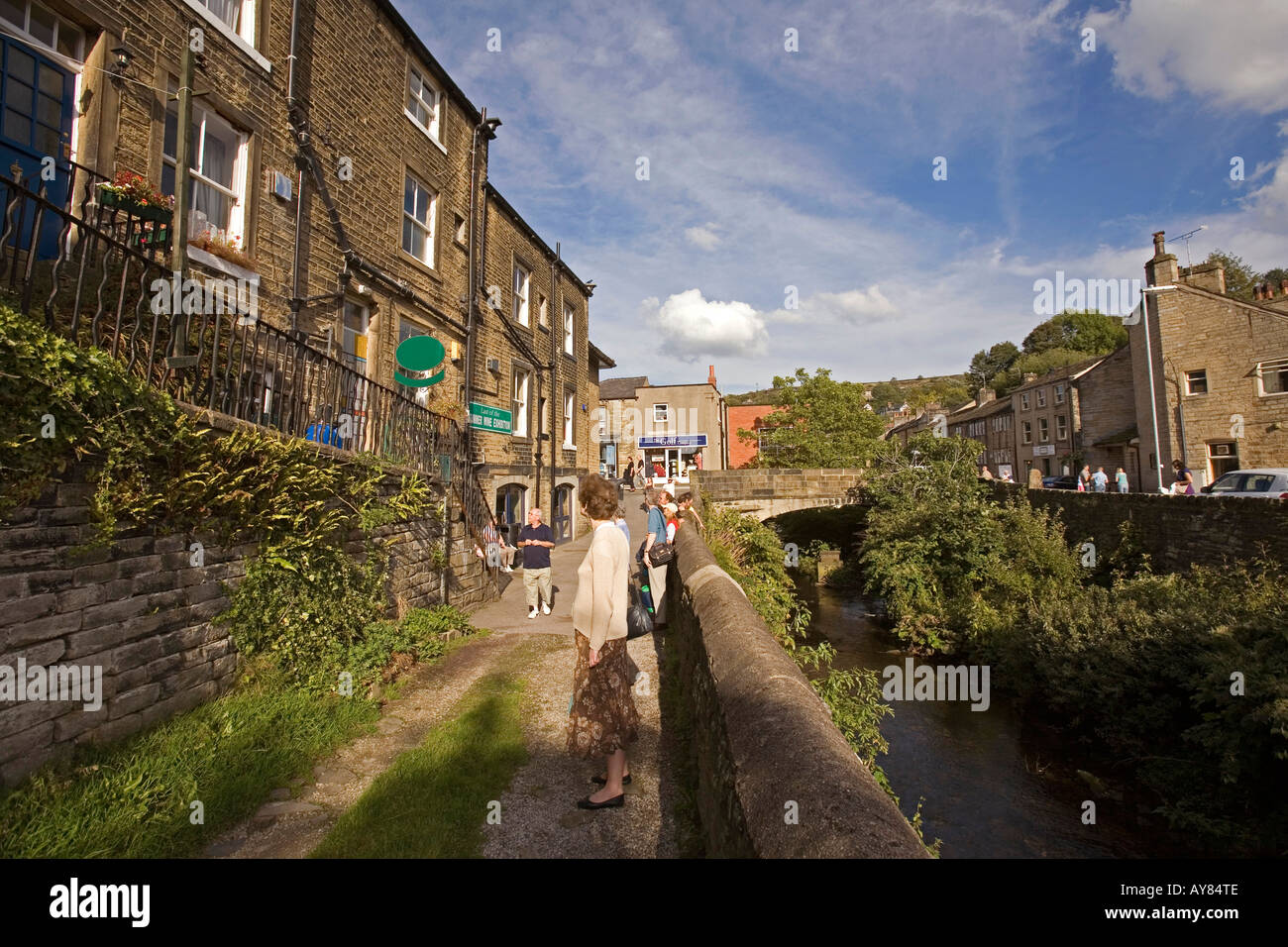 Summer Holiday Film Stock Photos Images Movie Wiring Harness Uk Yorkshire Holmfirth Town Centre Norah Battys House Last Of Wine Location