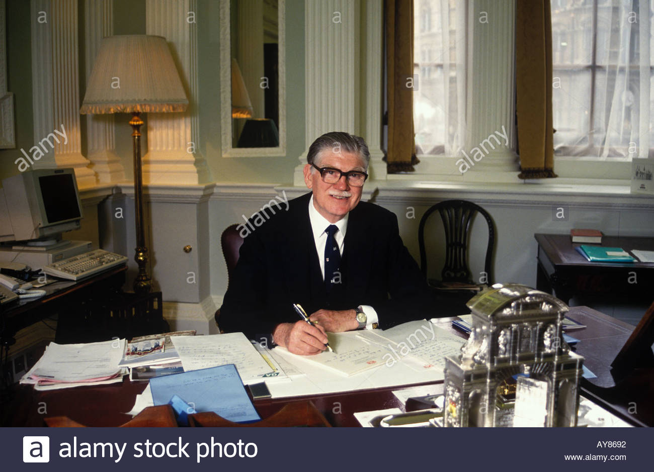 Sir Francis McWilliam Lord Mayor of London 1993 - Stock Image