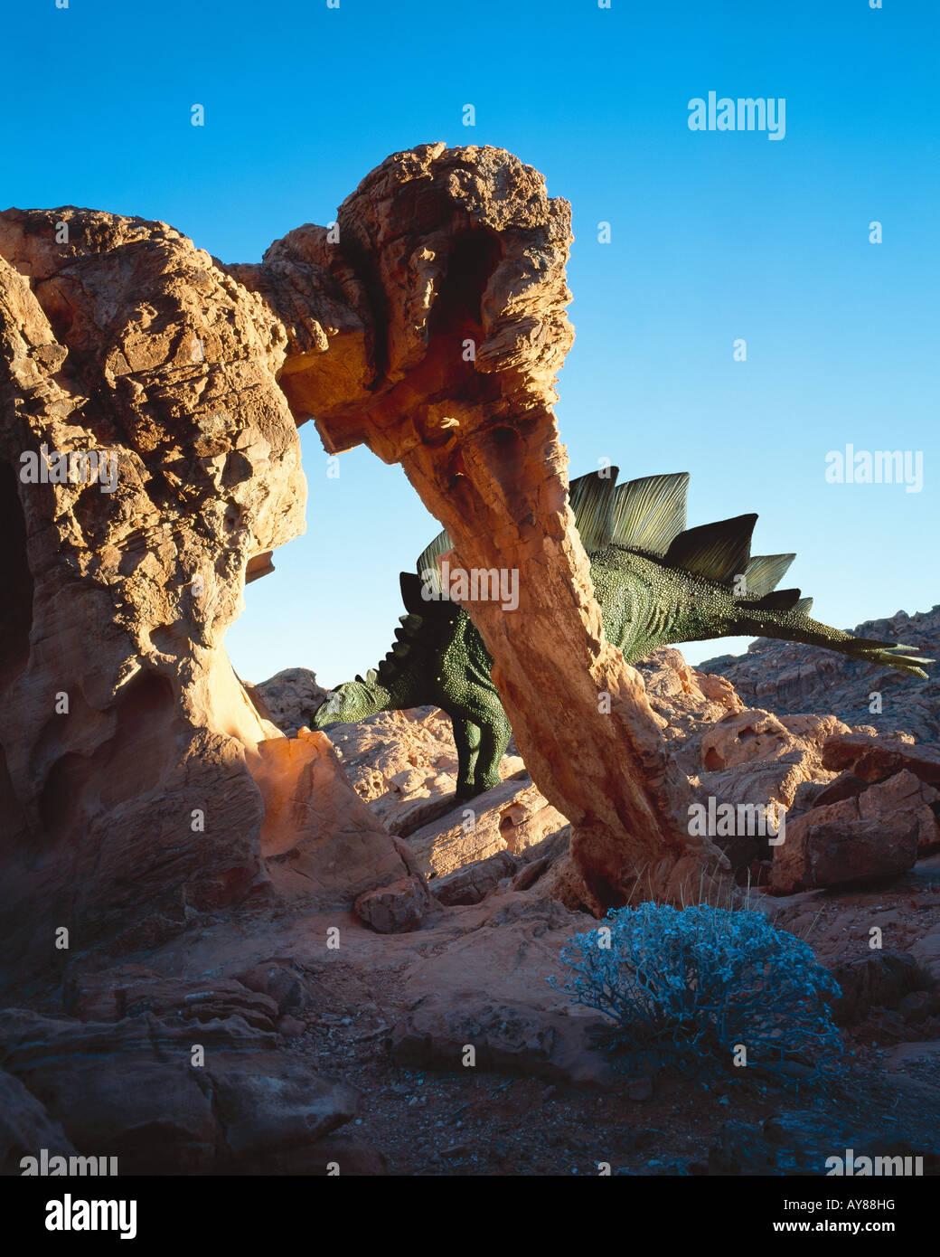 Stegosaurus dinosaur - Stock Image