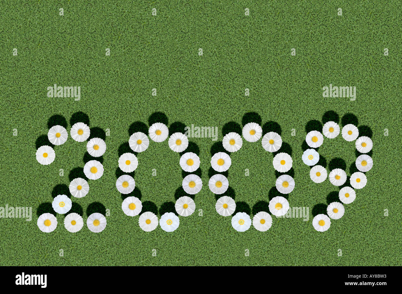 year 2009 Stock Photo