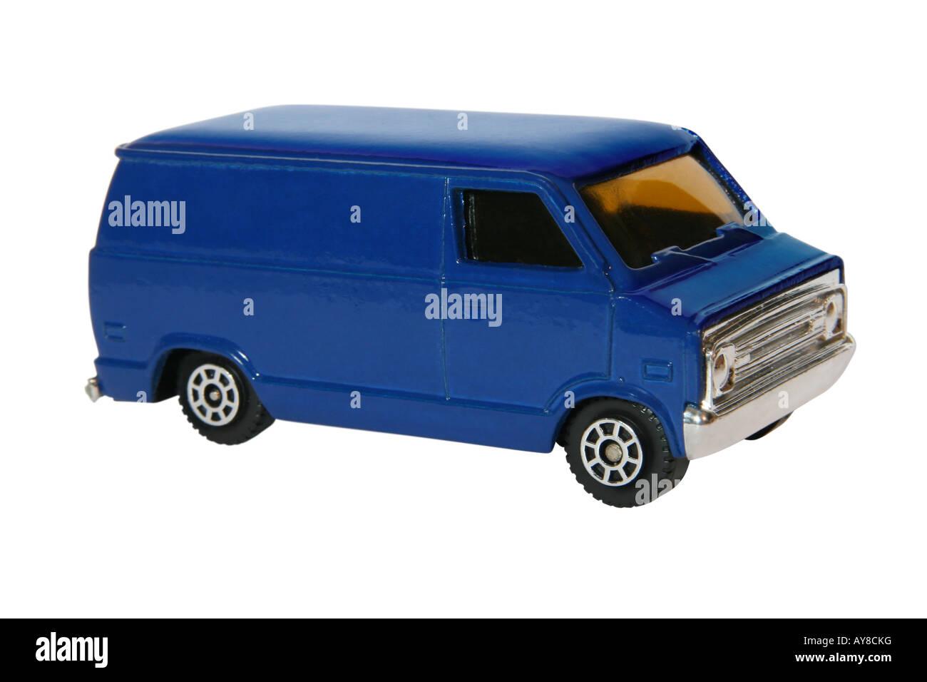 Toy blue van. Stock Photo