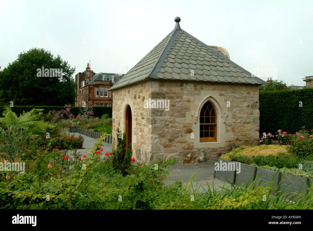 Pavillion Queen Mother's garden Royal Botanic Gardens Edinburgh opened July 7 2006 - Stock Image